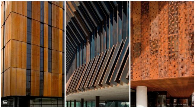 Arquitectura en acero corten for Fachada acero corten